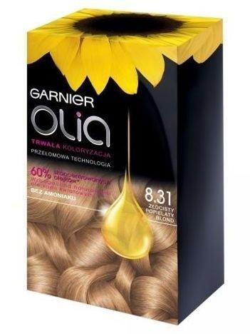 Garnier Olia Farba do włosów nr 8.31 Złocisty Popielaty Blond