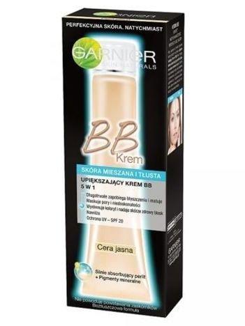 Garnier Upiększający krem BB 5 w 1 dla skóry tłustej i mieszanej - cera jasna  40 ml