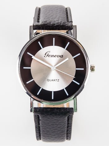 Genava czarny zegarek damski
