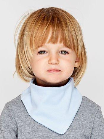 Gładka chustka na rzep dla dziewczynki jasnoniebieska