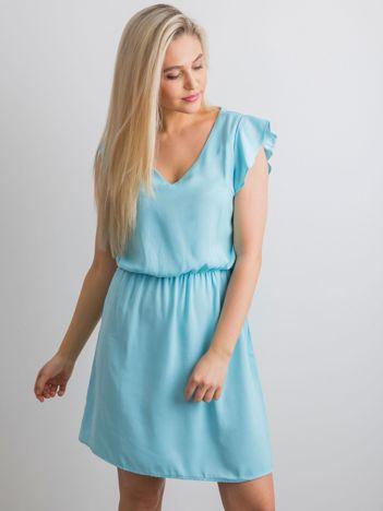 Gładka sukienka niebieska