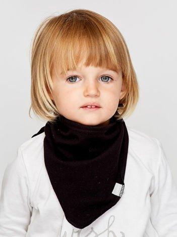 Gładka trójkątna chustka dla dziewczynki czarna