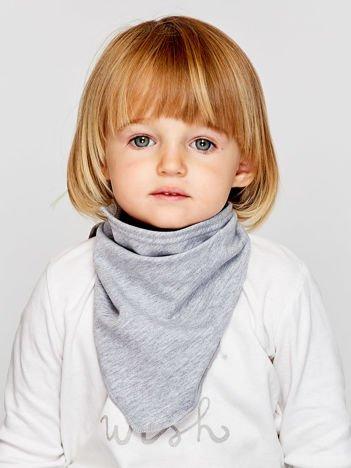 Gładka trójkątna chustka dla dziewczynki szara