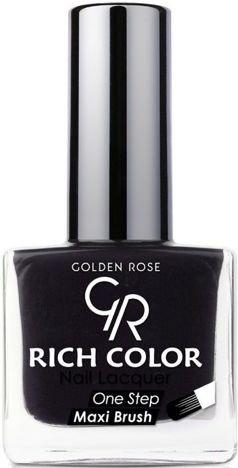 Golden Rose Rich Color lakier do paznokci 35 czarny 10,5 ml