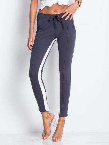 Grafitowe spodnie dresowe Defined