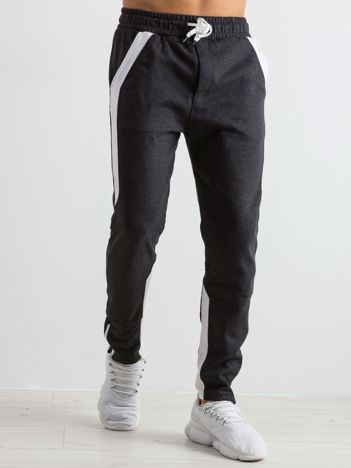 Grafitowe spodnie dresowe męskie Durable