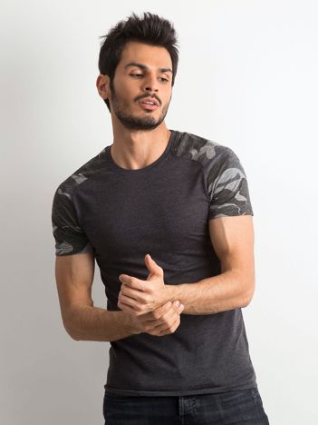Grafitowy bawełniany t-shirt męski