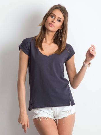 Grafitowy t-shirt Vibes