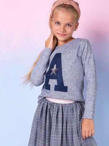 Granatowa bluza dla dziewczynki z literą
