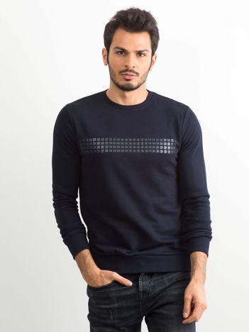 Granatowa bluza męska z aplikacją