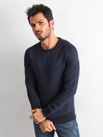 Granatowa bluza męska z bawełny