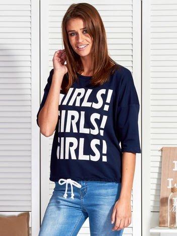 Granatowa bluzka GIRLS GIRLS GIRLS
