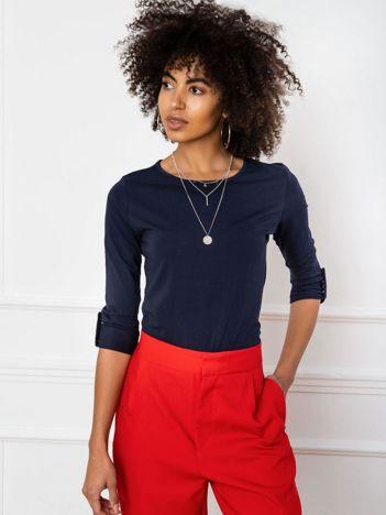 Granatowa bluzka Mindy