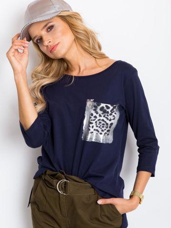 Granatowa bluzka Purr