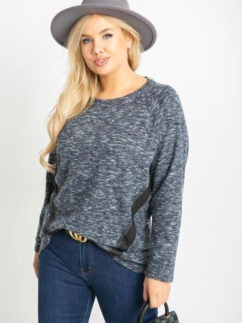 Granatowa bluzka plus size Fanita