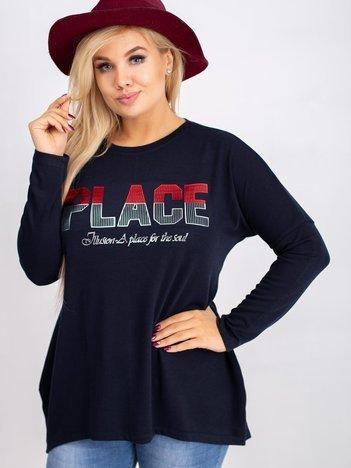 Granatowa bluzka plus size Gracie