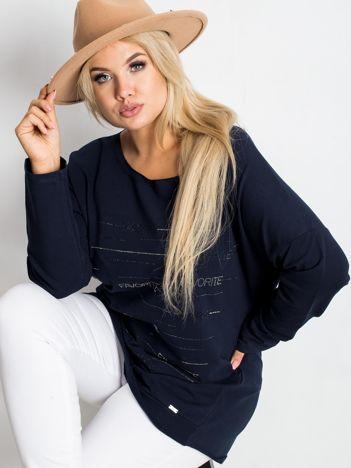 Granatowa bluzka plus size Shay