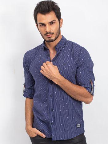 Granatowa koszula męska Issue