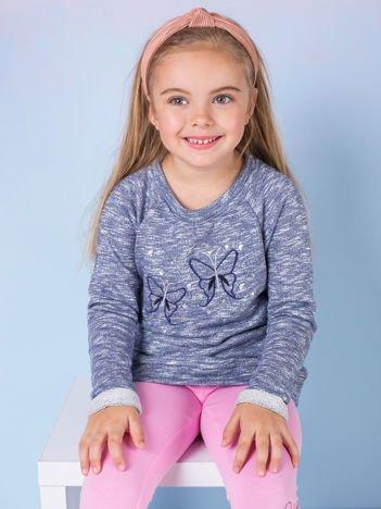 Granatowa melanżowa bluza dziewczęca