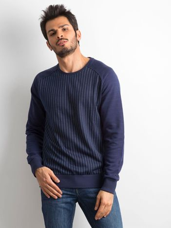 Granatowa męska bluza w paski