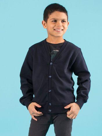 Granatowa rozpinana bluza chłopięca