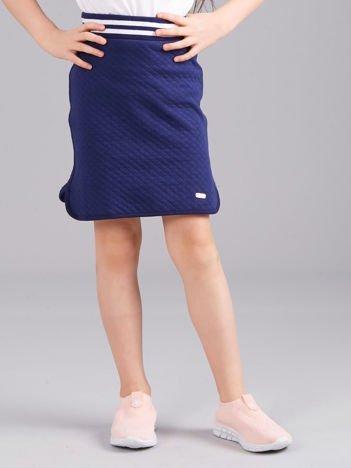 Granatowa spódnica dresowa dziewczęca