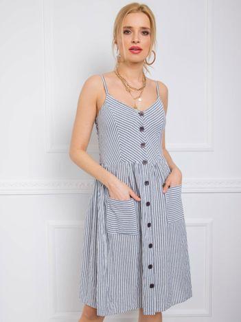 Granatowa sukienka Buenos RUE PARIS