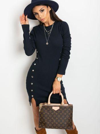 Granatowa sukienka Fabulous