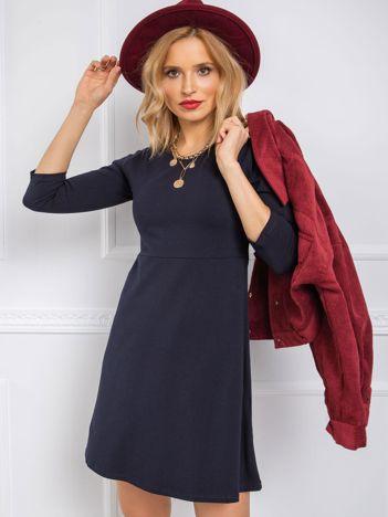 Granatowa sukienka Leisa