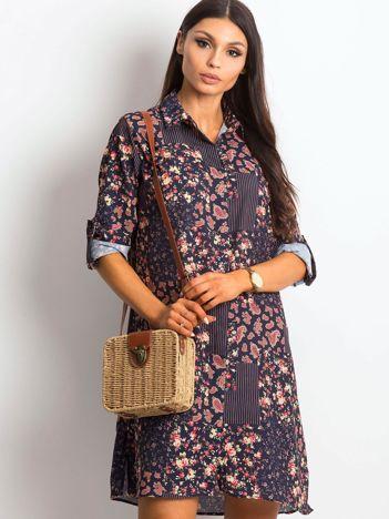 Granatowa sukienka Mainstay