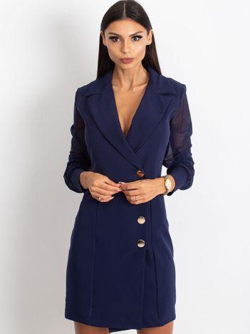 Granatowa sukienka Master
