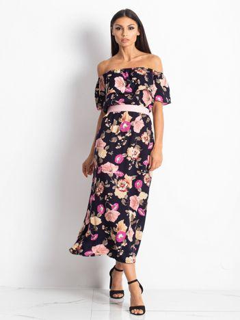Granatowa sukienka Toskana