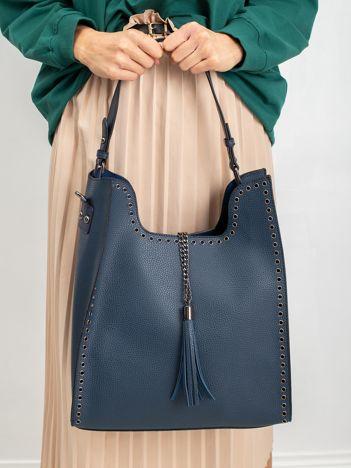 Granatowa torba miejska na ramię