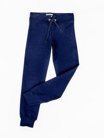 Granatowe dresowe spodnie dziecięce