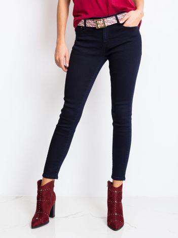 Granatowe jeansy Florence