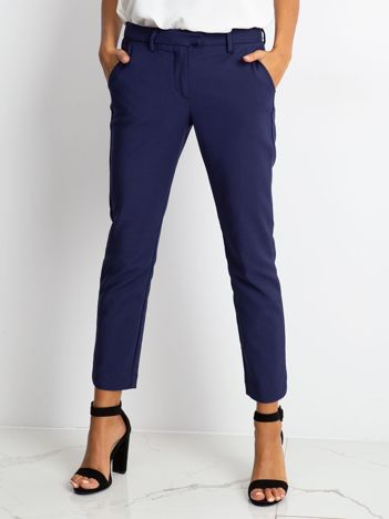 Granatowe spodnie Classy