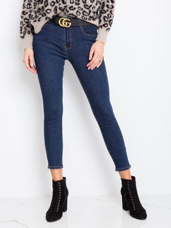 Granatowe spodnie Detroit