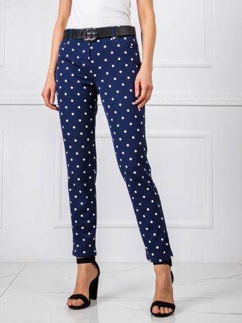 Granatowe spodnie Dotty RUE PARIS