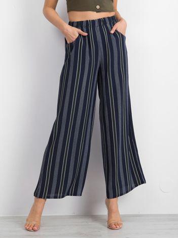Granatowe spodnie Multinationals