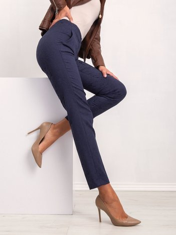 Granatowe spodnie Risky
