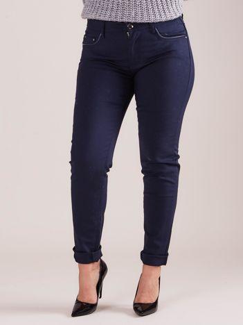Granatowe spodnie damskie PLUS SIZE