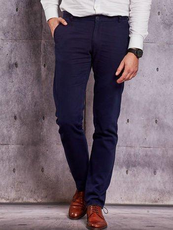 Granatowe spodnie męskie straight