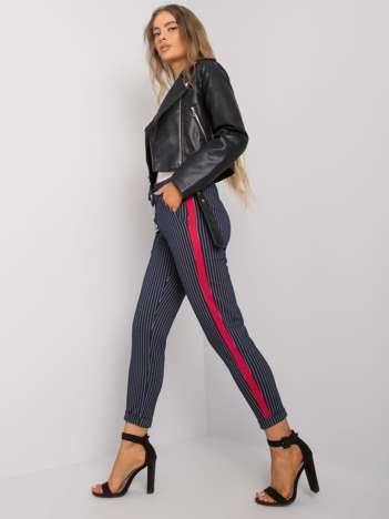 Granatowe spodnie w paski Sabella