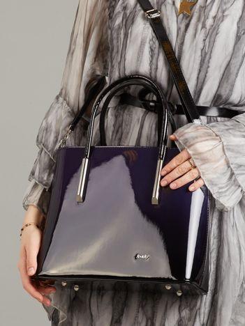 Granatowo-czarna torba ombre
