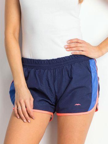 Granatowo-niebieskie szorty Sporty