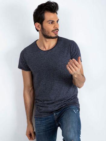 Granatowo-szary t-shirt męski Selfdriven