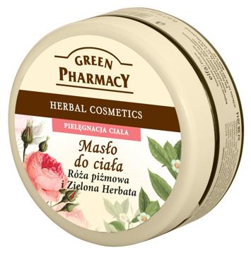 Green Pharmacy Masło do ciała Róża piżmowa, Zielona herbata 200 ml