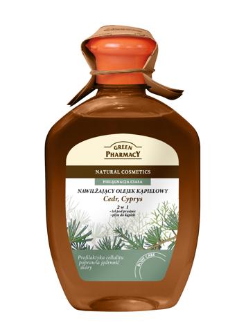 Green Pharmacy Olejek kąpielowy nawilżający 2w1 Cedr, Cyprys 250 ml