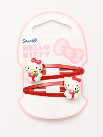 HELLO KITTY Zestaw 2 szt. czerwonych spinek do włosów dla dziewczynki