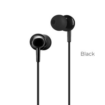 HOCO M14 Słuchawki przewodowe jack 3,5 mm douszne lekkie z mikrofonem i sterowaniem na kablu czarne